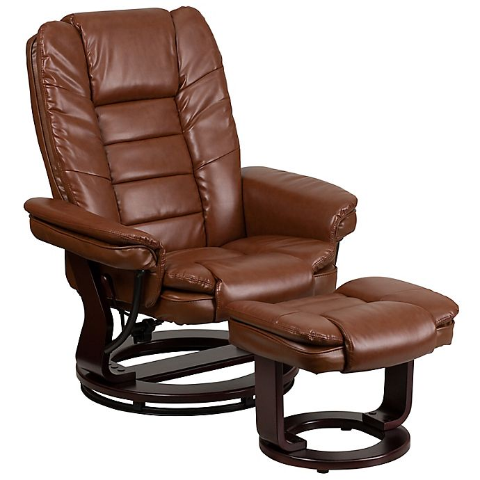 Alternate image 1 for Flash Furniture Contemporary Swivel Recliner