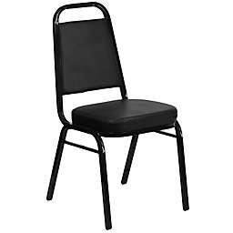 Flash Furniture Hercules 36-Inch Tall Banquet Chair in Black Vinyl
