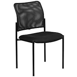 Flash Furniture Mesh Side Chair in Black