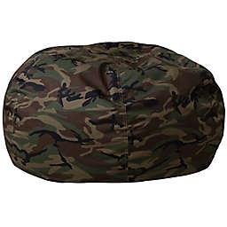 Flash Furniture Kids Bean Bag Chair in Camouflage