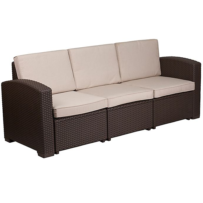Flash Furniture Outdoor Faux Rattan, What Is Flash Furniture