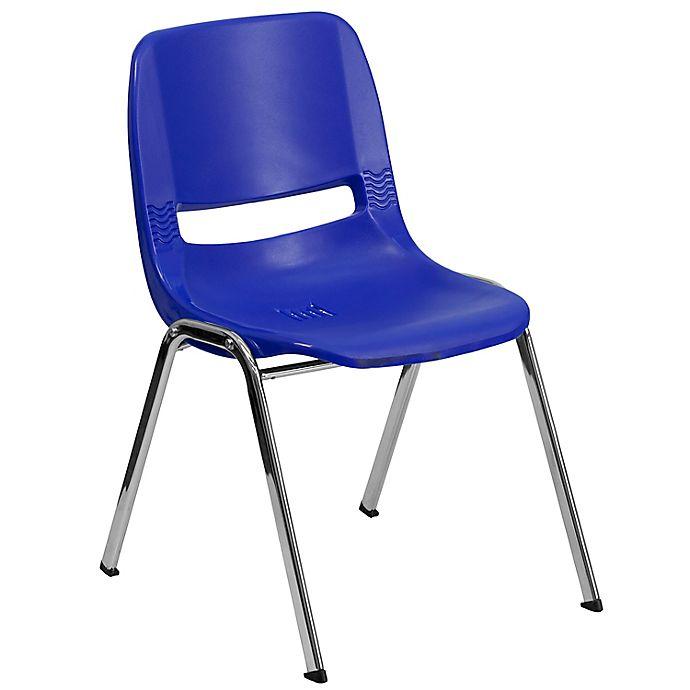Alternate image 1 for Flash Furniture Plastic Ergonomic Stack Chair