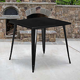 Flash Furniture 31.75-Inch Square All-Weather Metal Indoor-Outdoor Table