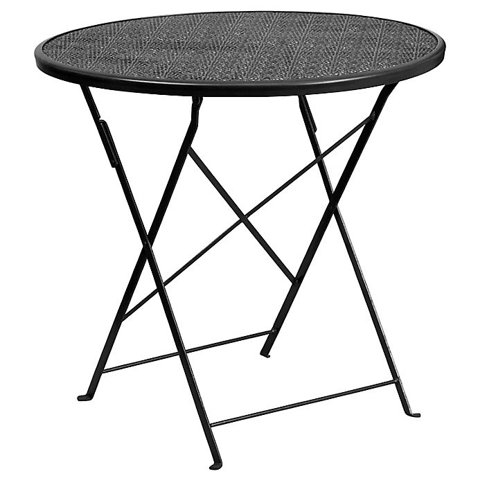 Alternate image 1 for Flash Furniture Indoor/Outdoor Folding Patio Table in Black