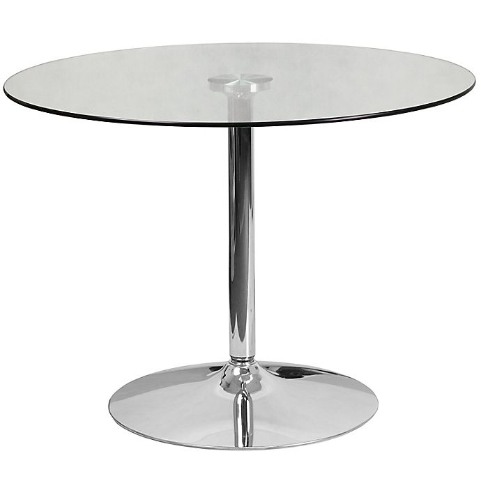 Alternate image 1 for Flash Furniture 39.25-Inch Round Glass Table in Chrome