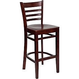 Flash Furniture Wood Ladder Back Stool