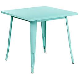 Flash Furniture Café Square Indoor/Outdoor Metal Table