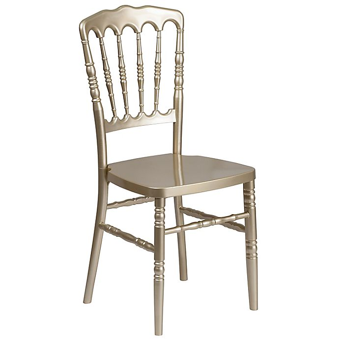 Flash Furniture Resin Napoleon Stacking Chair Bed Bath Beyond