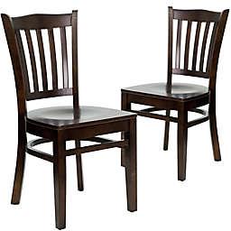 Flash Furniture Vertical Slat Back Chairs (Set of 2)