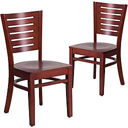 Flash Furniture Slat Back Wood Chairs (Set of 2)