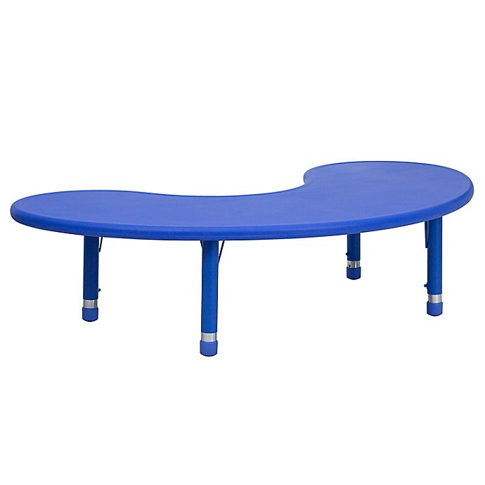 Alternate image 1 for Flash Furniture Half-Moon Activity Table