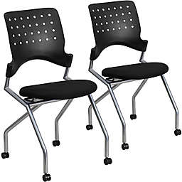 Flash Furniture Fabric Side Chairs in Black (Set of 2)