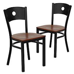 Flash Furniture Circle Back Chairs (Set of 2)