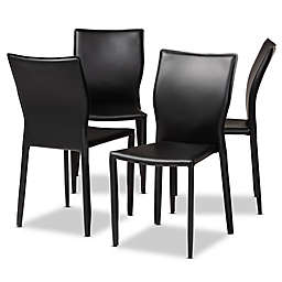 Baxton Studio Karie Faux Leather Dining Chairs (Set of 4)