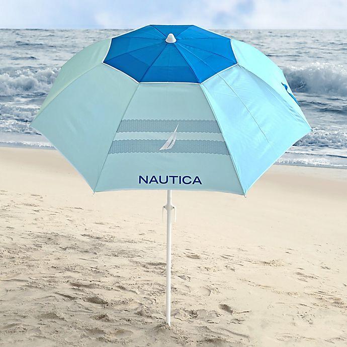 Alternate image 1 for Nautica® 7-Foot Beach Umbrella in Blue