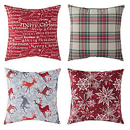 Greendale Home Fashions® Holiday Square Throw Pillows (Set of 4)