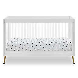 Delta Children Sloane 4-in-1 Acrylic Convertible Crib with Rails