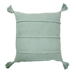 Bee & Willow™ Home Braids and Tassels Square Throw Pillow in Blue Haze
