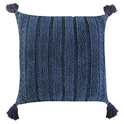Global Caravan™ Woven Stripe Square Throw Pillow in Indigo