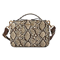 TWELVElittle Luxe Diaper Clutch in Natural Snake Skin