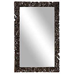 Ridge Road Decor Large 32.5-Inch x 47-Inch Rectangular Wall Mirror with Textured Gunmetal in Black
