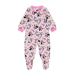 Disney® Minnie Mouse Unicorn Star Microfleece Footie Pajama in Pink