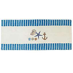 """Avanti Antiqua 24"""" x 60"""" Bath Runner in Blue"""