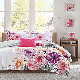 Olivia Reversible Comforter Set in Pink