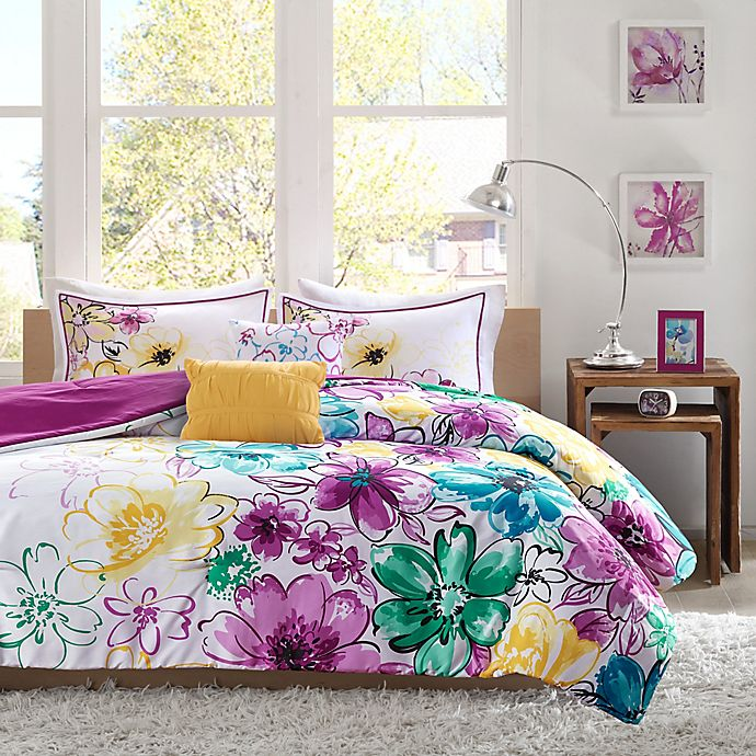 Alternate image 1 for Olivia Reversible Twin/Twin XL Comforter Set