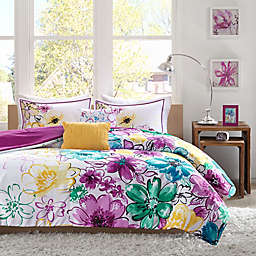 Olivia Reversible King/California King Comforter Set in  Fuchsia