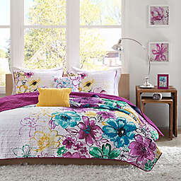 Olivia Twin/Twin XL Coverlet Set in Fuchsia