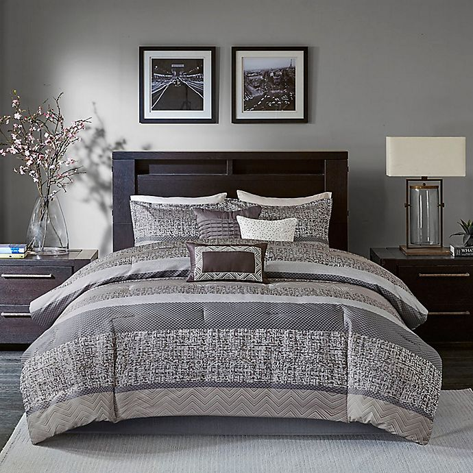 Alternate image 1 for Madison Park® Rhapsody Woven Jacquard 7-Piece Comforter Set