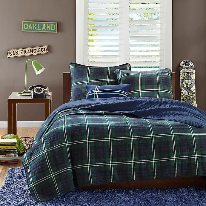 Alternate image 1 for Mi Zone Brody Twin/Twin XL Coverlet Set in Blue