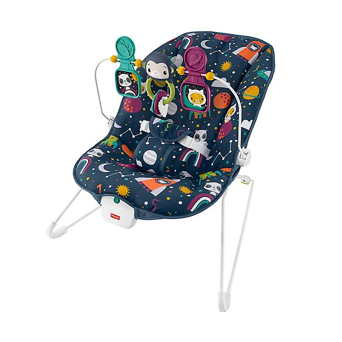 Alternate image 1 for Fisher-Price® Space Kitty Baby Bouncer
