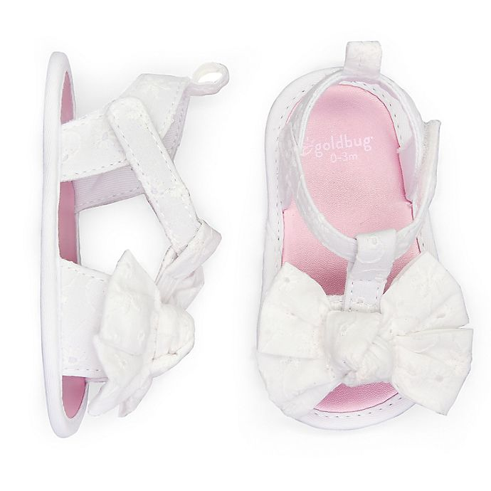 Alternate image 1 for goldbug™ Eyelet Sandal in White