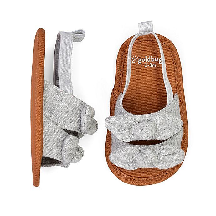 Alternate image 1 for goldbug™ Shimmer Bow Sandal in Heather Grey