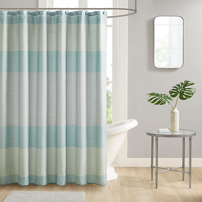 Alternate image 1 for Harbor 13-Piece 70-Inch x 72-Inch Shower Curtain and Hook Set in Aqua
