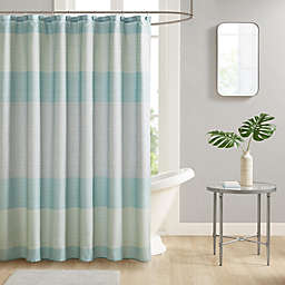 Harbor 13-Piece 70-Inch x 72-Inch Shower Curtain and Hook Set in Aqua