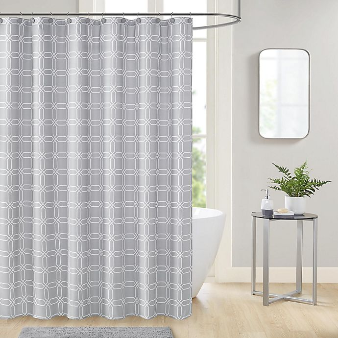 Alternate image 1 for Merlin 13-Piece 70-Inch x 72-Inch Shower Curtain and Hook Set in Grey