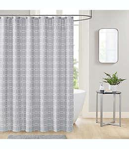 Set de cortina de baño de poliéster con ganchos Merlin color gris