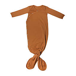 Copper Pearl™ Size 0-4M Knotted Gown in Camel