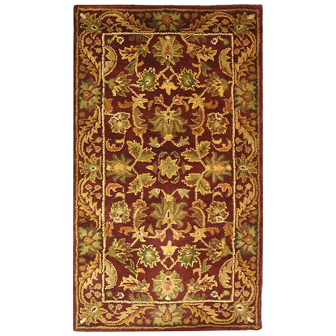 Alternate image 1 for Safavieh Antiquities Wine and Gold Wool Accent Rugs