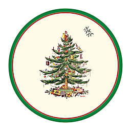 Spode Christmas Tree 8-Inch Paper Salad Plates (Set of 12)
