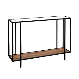 Vireo Bronze and Rustic Oak Accent Table