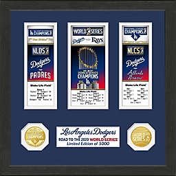 MLB Los Angeles Dodgers 2020 World Series Champions Event Commemorative Frame