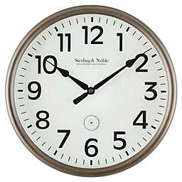 Sterling & Noble™ LED Lighted 12-Inch Outdoor Wall Clock