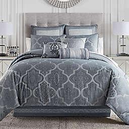 Waterford® Trento 4-Piece Reversible King Comforter Set in Dark Blue