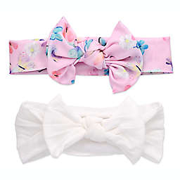 Khristie® 2-Pack Butterfly and White Bow Headbands