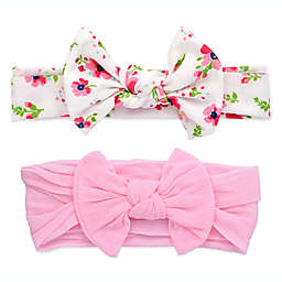 Khristie® 2-Pack Floral and Pink Bow Headbands