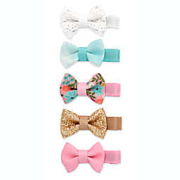 Khristie® 5-Pack Assorted Mini Bow Hair Clips